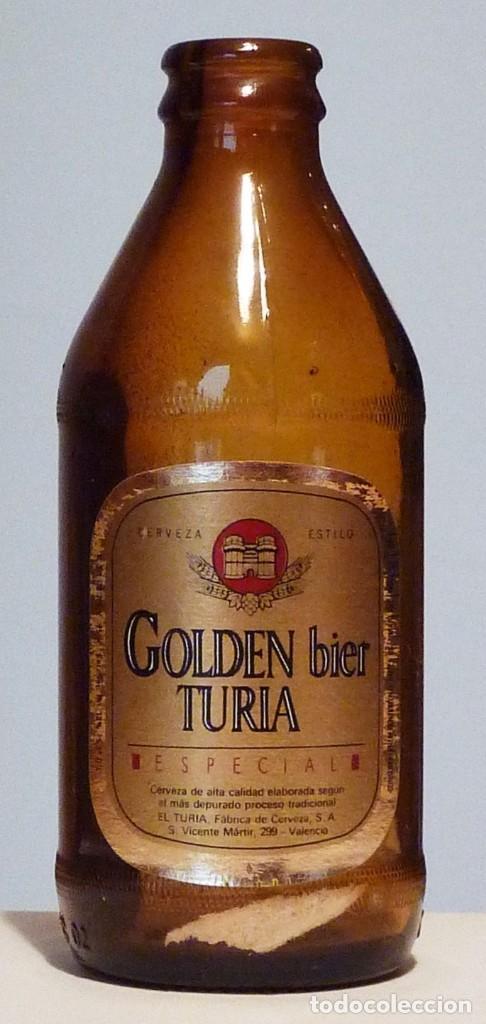 BOTELLA CERVEZA EL TURIA - GOLDEN BIER TURIA ESPECIAL - VACÍA (Coleccionismo - Botellas y Bebidas - Cerveza )