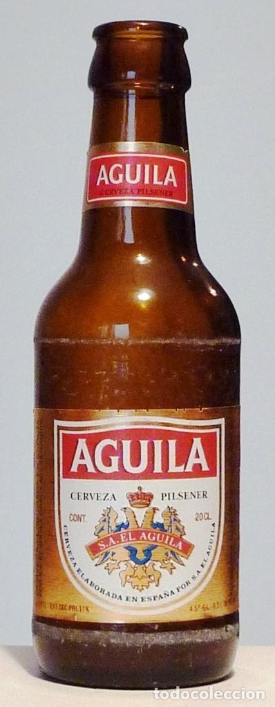 BOTELLA CERVEZA ÁGUILA PILSENER 20 CL - VACÍA (Coleccionismo - Botellas y Bebidas - Cerveza )