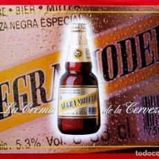 Coleccionismo de cervezas: CHAPA DE CERVEZA NEGRA MODELO. NUEVA A ESTRENAR. TAMAÑO GRANDE.. Lote 149210978