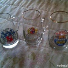 Coleccionismo de cervezas: LOTE DE TRES JARRAS DE CERVEZA ALEMANA PARA MEDIANAS. Lote 149825814