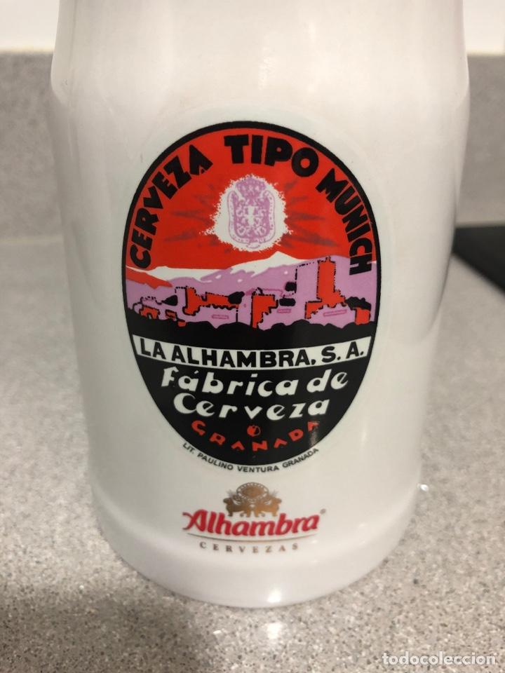 Coleccionismo de cervezas: JARRA DE CERVEZA DE COLECCIÓN CERVEZAS ALHAMBRA - Foto 2 - 150601018
