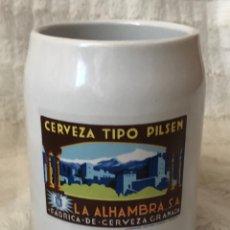 Coleccionismo de cervezas: JARRA DE CERVEZA COLECCIÓN CERVEZAS ALHAMBRA. Lote 172051705