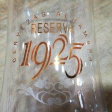 Coleccionismo de cervezas: ALHAMBRA RESERVA-CAJA CON 6 COPAS 33 CL CERVEZA. Lote 149842561