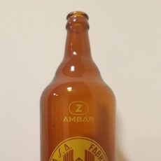 Coleccionismo de cervezas: BOTELLA CERVEZA ÁMBAR LITRO. Lote 151440257