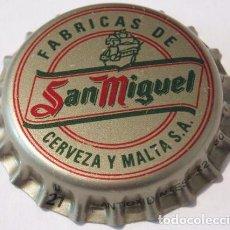 Coleccionismo de cervezas: CHAPA CERVEZA SAN MIGUEL, FACTORIA U (SIN USAR). Lote 151451938
