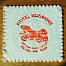 Coleccionismo de cervezas: POSAVASOS HOTEL ROSAMAR - LLORET DE MAR. Lote 151486922