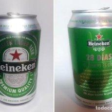 Coleccionismo de cervezas: LATA HEINEKEN. 28 DÍAS, EL TIEMPO ES ORO.. Lote 151675542