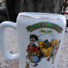 Coleccionismo de cervezas: JARRA DE CERVEZA FESTA DE LA CERVESA, PLATJA D'ARO 1991. Lote 172012453