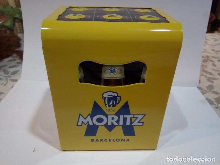 SEVILLETERO DE PUBLICIDAD MORITZ (Coleccionismo - Botellas y Bebidas - Cerveza )