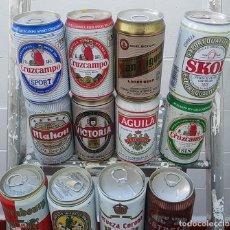 Coleccionismo de cervezas: GRAN LOTE DE LATAS DE CERVEZA, AÑOS 90, SIN ABRIR, VER FOTOS.. Lote 155439574
