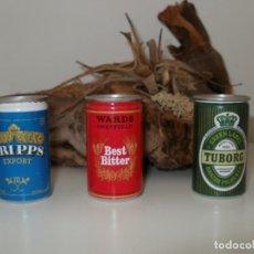 Coleccionismo de cervezas: LOTE DE LATAS DE CERVEZA EN MINIATURA MINI LATAS MARCAS EXTRANJERAS. Lote 156834754