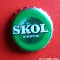 Coleccionismo de cervezas: CHAPA CERVEZA SKOL. Lote 157475353