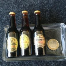 Coleccionismo de cervezas: 3 BOTELLITAS CERVEZA GUINNERS. Lote 158474722