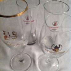 Coleccionismo de cervezas: LOTE CRUZCAMPO ANTIGUAS COPAS Y VASOS, PARA COLECCIONISTAS. Lote 160252802