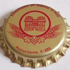 Collectionnisme de bières: CHAPA CERVEZA EL TURIA, FACTORIA E (SIN USAR). Lote 160558354