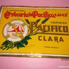 Coleccionismo de cervezas: CARTEL EN HOJALATA LITOGRAFIADA DE CERVEZA PACÍFICO CLARA CERVECERIA DEL PACÍFICO S.A .. Lote 160597334