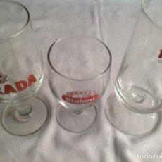 Coleccionismo de cervezas: COPAS CERVEZAS : DORADA Y MAHOU. Lote 160602642