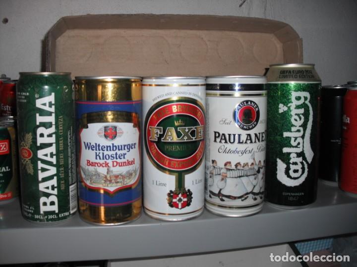 5 LATAS DE CERVEZAS DE 1 LITRO DE DIVERSOS PAISES. (Coleccionismo - Botellas y Bebidas - Cerveza )
