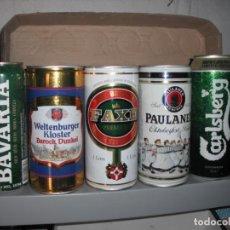 Coleccionismo de cervezas: 5 LATAS DE CERVEZAS DE 1 LITRO DE DIVERSOS PAISES. . Lote 160682186