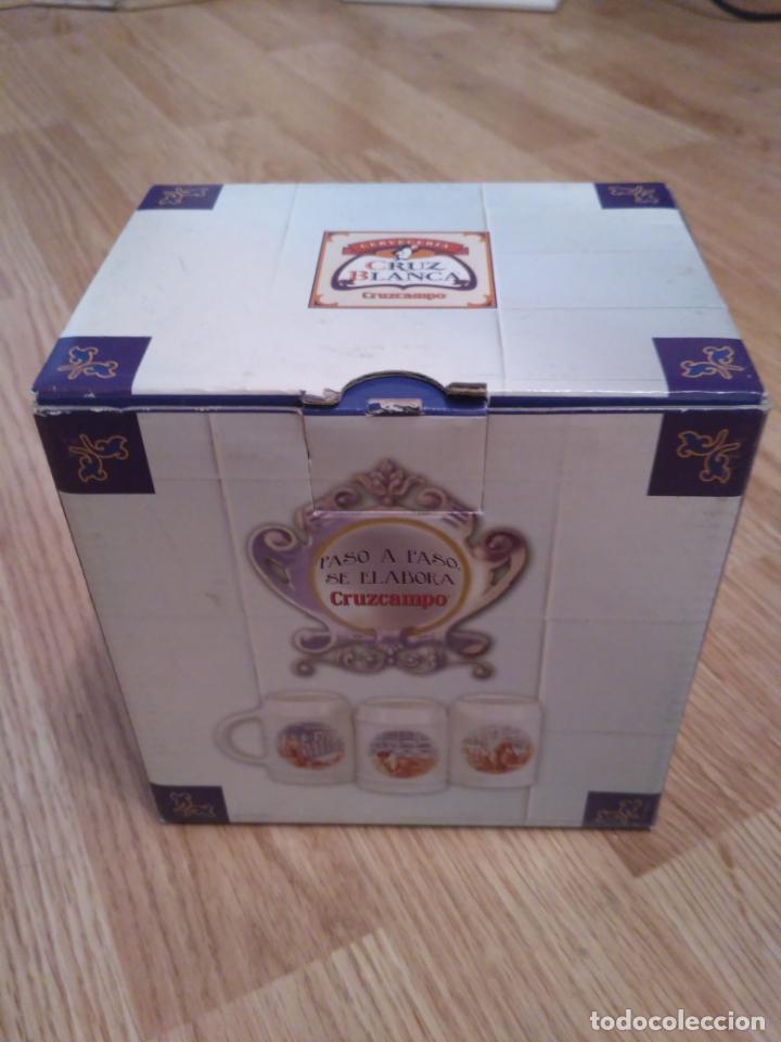 JARRA DE CERVEZA LA CRUZ BLANCA (Coleccionismo - Botellas y Bebidas - Cerveza )