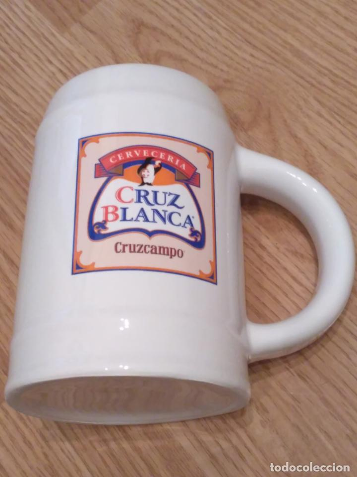 Coleccionismo de cervezas: jarra de cerveza la cruz blanca - Foto 2 - 161515590