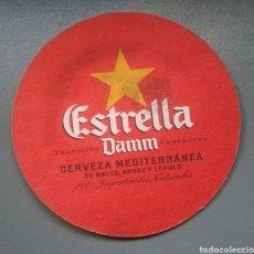 Coleccionismo de cervezas: POSAVASOS CERVEZA ESTRELLA DAMM. Lote 161539044