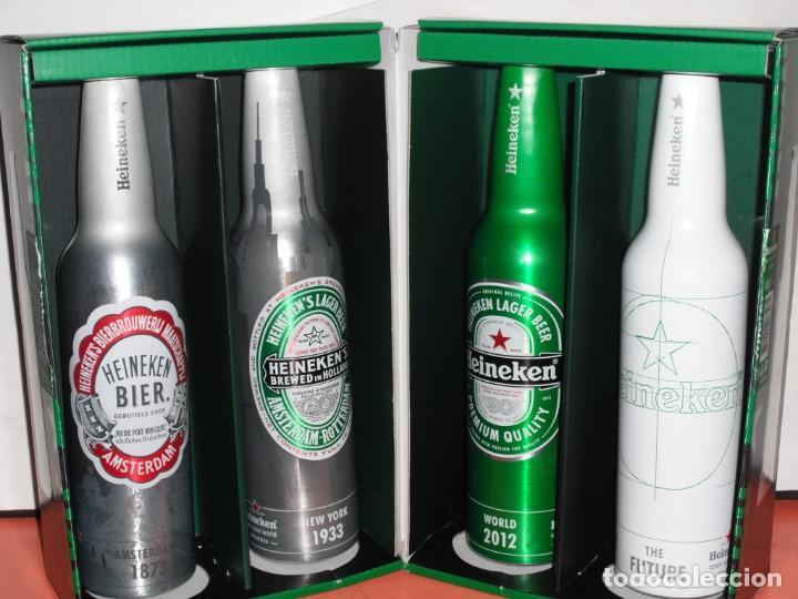 SET COMPLETO DE BOTELLAS ALUMINIO CERVEZA HEINEKEN (Coleccionismo - Botellas y Bebidas - Cerveza )
