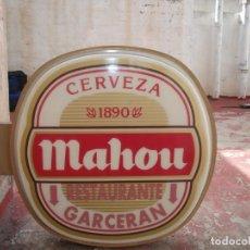 Coleccionismo de cervezas: LUMINOSO EXTERIOR DE CERVEZA MAHOU AÑOS 80. RECOGIDA EN MANO. Lote 161587294