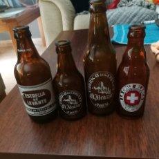 Coleccionismo de cervezas: LOTE CERVEZAS ANTIGUAS. Lote 161623194