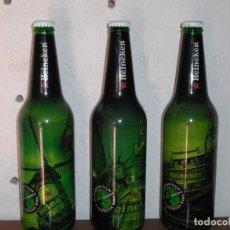 Coleccionismo de cervezas: SET DE TRES BOTELLAS CERVEZA HEINEKEN DE 66 CL EDICION LIMITADA. Lote 163420662