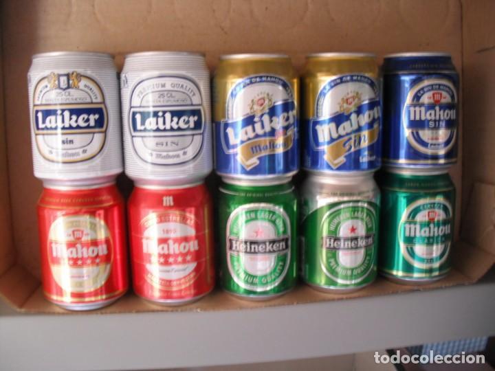 10 LATAS CERVEZA DE 25 CL LLENAS (Coleccionismo - Botellas y Bebidas - Cerveza )