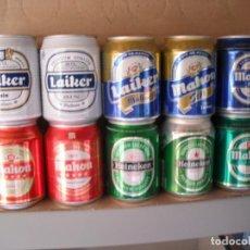 Coleccionismo de cervezas: 10 LATAS CERVEZA DE 25 CL LLENAS. Lote 163420890