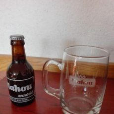 Coleccionismo de cervezas: LOTE JARRA Y CERVEZA ESPECIAL MAHOU SIN ABRIR. Lote 163443130