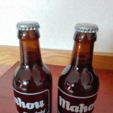 Coleccionismo de cervezas: DOS BOTELLAS DE CERVEZA MAHOU ESPECIAL SERIGRAFIADAS SIN ABRIR NUEVAS. Lote 163444106