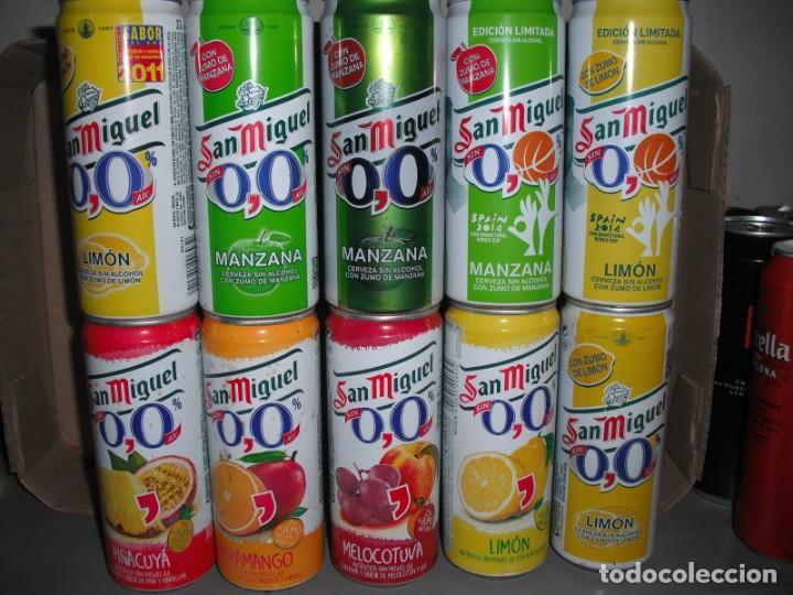10 LATAS CERVEZA SAN MIGUEL 33 CL TUBO (Coleccionismo - Botellas y Bebidas - Cerveza )