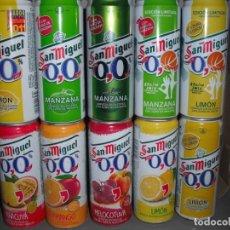 Coleccionismo de cervezas: 10 LATAS CERVEZA SAN MIGUEL 33 CL TUBO. Lote 163612770