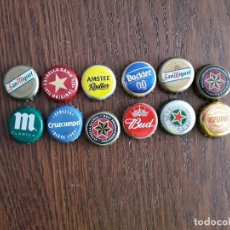 Collectionnisme de bières: LOTE DE 12 CHAPAS DE CERVEZA. Lote 163729078