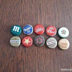 Collectionnisme de bières: LOTE DE 10 CHAPAS DE CERVEZA.. Lote 163789162