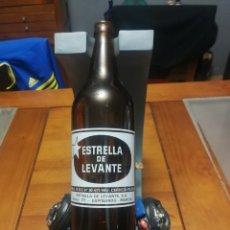 Coleccionismo de cervezas: CERVEZA ESTRELLA DE LEVANTE UN LITRO CON EL REGISTRO SANITARIO. Lote 164952240