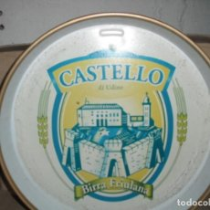 Coleccionismo de cervezas: BANDEJA DE BAR DE CASTELLO DE UNIDE. ITALIA. Lote 165404342