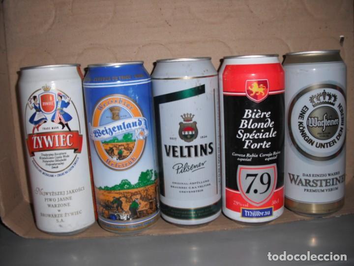 LOTE DE 5 LATAS CERVEZA DE DISTINTOS PAISES (Coleccionismo - Botellas y Bebidas - Cerveza )