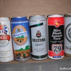 Coleccionismo de cervezas: LOTE DE 5 LATAS CERVEZA DE DISTINTOS PAISES. Lote 165404746