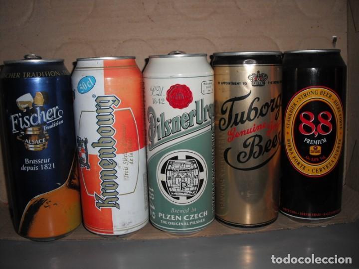 LOTE DE 5 LATAS DE CERVEZA DE DISTINTOS PAISES (Coleccionismo - Botellas y Bebidas - Cerveza )