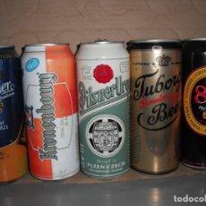 Coleccionismo de cervezas: LOTE DE 5 LATAS DE CERVEZA DE DISTINTOS PAISES. Lote 165404910