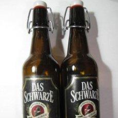Coleccionismo de cervezas: LOTE 2 BOTELLAS CERVEZA DAS SCHWARZE. Lote 165658470
