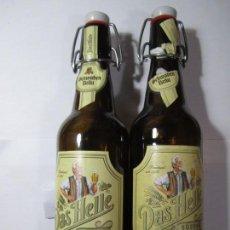 Coleccionismo de cervezas: LOTE 2 BOTELLAS DE CERVEZA DAS HELLE. Lote 165661526