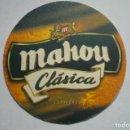 Coleccionismo de cervezas: POSAVASOS CARTON DURO MAHOY CLASICA IMPRESO 2 CARAS. Lote 165679834