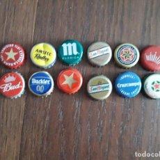Collectionnisme de bières: LOTE DE 12 CHAPAS DE CERVEZA. Lote 165683898