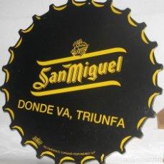 Coleccionismo de cervezas: LETRERO ANUNCIO SAN MIGUEL. Lote 165881654