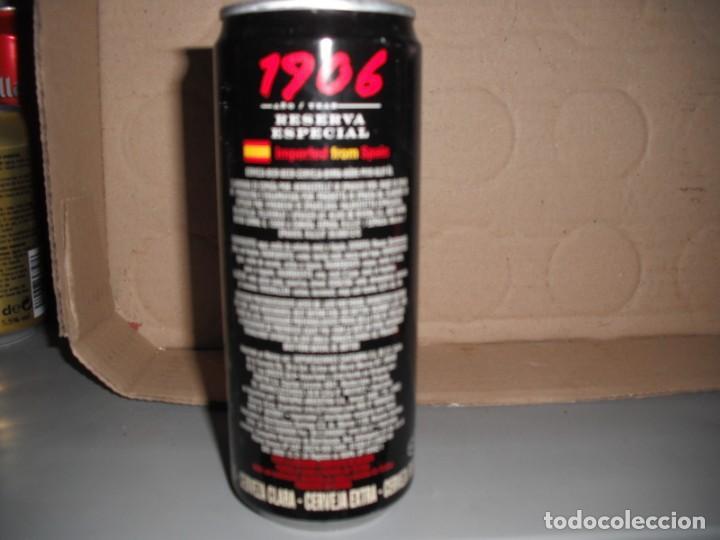 Coleccionismo de cervezas: lata cerveza 1906 de 33 tubo para exportacion a hispanoamerica - Foto 2 - 166571942